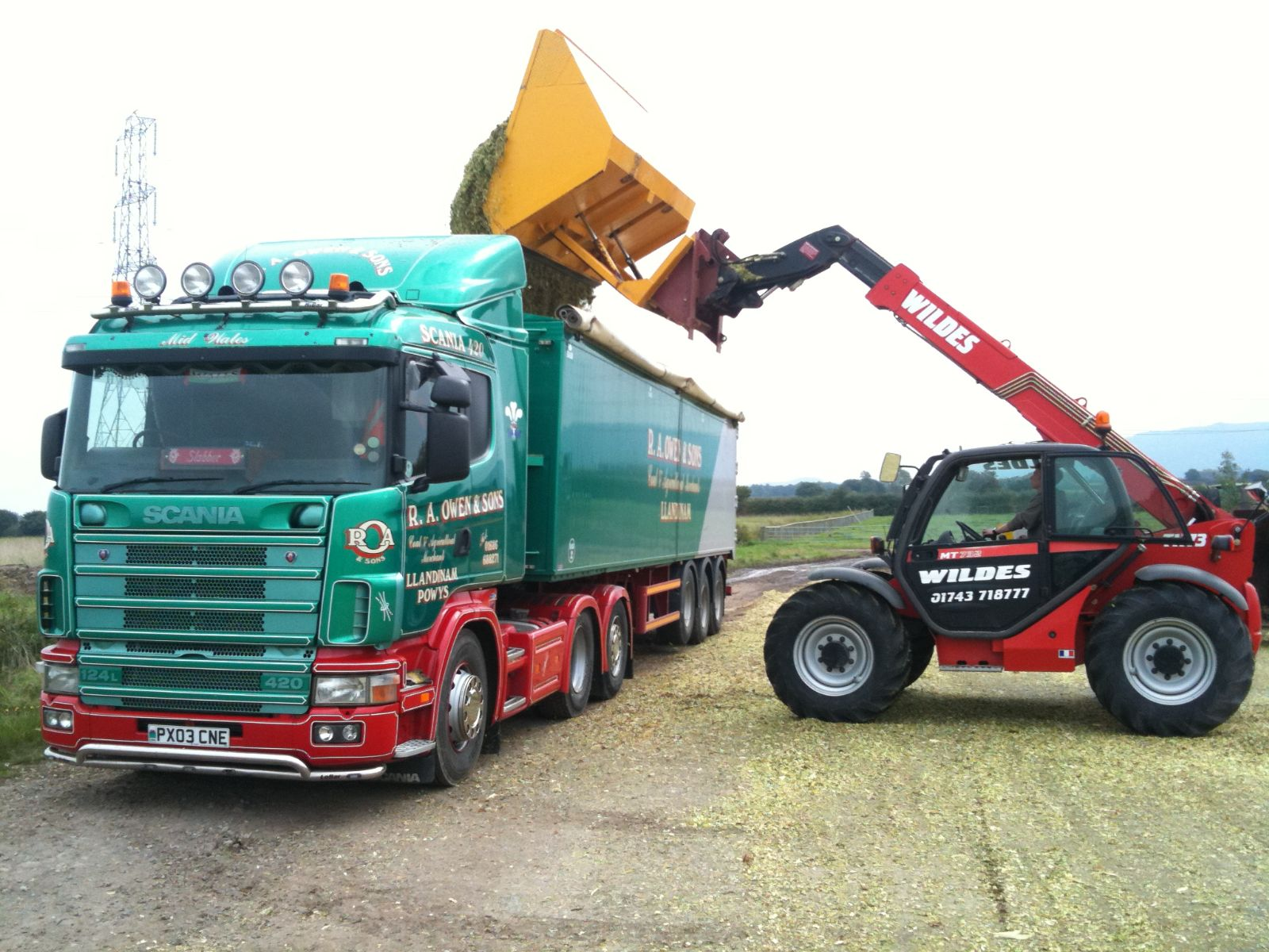 Larger deliveries at R A Owen and Sons Coal and Agricultural Merchants